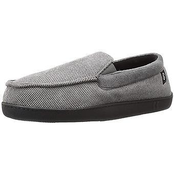 Isotoner Men's Shoes Corduroy gel Fabric Closed Toe Slip On Slippers