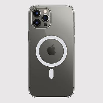 iPhone 12 Pro Max Clear Case con anillo magnético para carga inalámbrica MagSafe