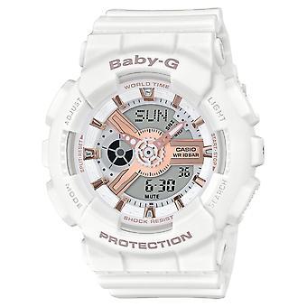 G-Shock BA-110RG-7AER Baby-G White With Rose Gold Tone Detail Wristwatch