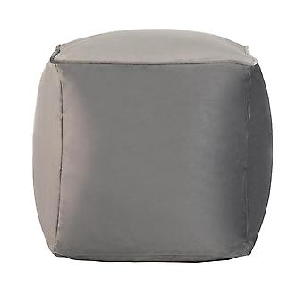 Slate Grey Cube Bean Bag Foot Rest Stool Pouffe Living Room Beanbag Ottoman Footstools