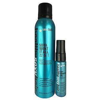 Sexyhair healthy 2 pc set leave in treatment 5.1 oz and styling treatment 0.85 oz
