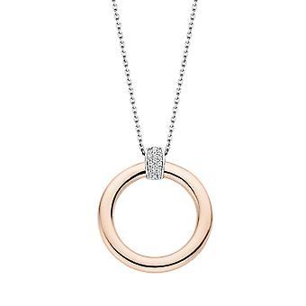 Kaula koru Ti Sento hohtavan valot 3924zr-48-kaula koru hopea rengas Dor vaaleanpunainen zirkonium oksidit naiset
