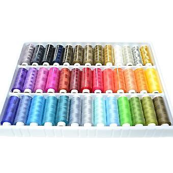 39 szpule Cewki 250 metrów Kolorowe kolory tęczy 100% poliester All Purpose Domestic Szycie Pikowanie Dziewiarskie Nici z złotymi i