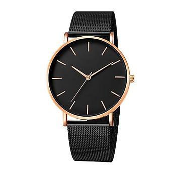 Luksus, Mesh, rustfrit stål Casual armbånd Quartz Watch For Ladies Watch