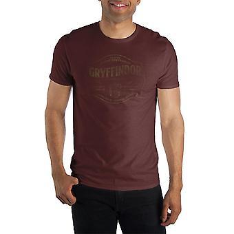 Harry potter founder godric gryffindor of gryffindor house hogwarts school of witchcraft & wizardry men's dark burgundy t-shirt