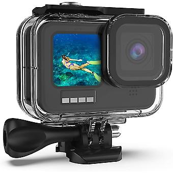 60M Waterproof Case for GoPro Hero 9, 196FT Underwater Protective Housing Case