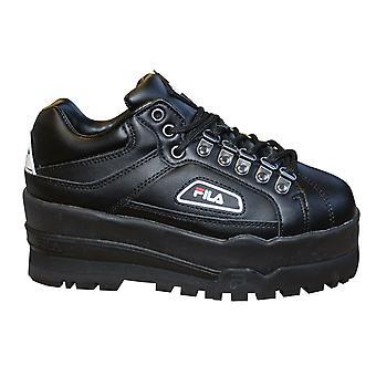 فيلا تريلبليزر Wedge النساء Chunky المدربين الأسود الدانتيل حتى الأحذية 5HM00524 013