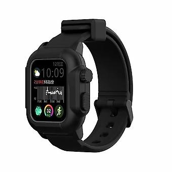Waterproof silicone rubber case and strap for apple iwatch series 2, 3 and 4