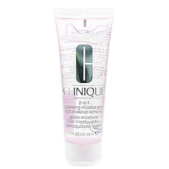 Clinique 2-in-1 Cleansing Micellar Gel & Light Makeup Remover 50ml