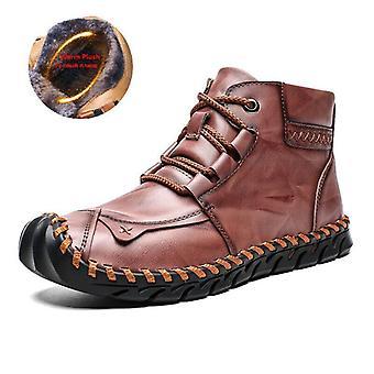 عالية الجودة الجلود الحارة أفخم سنو الأحذية، في الهواء الطلق أحذية الدراجات النارية الفراء