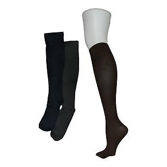 Legacy Women's M/L Graduated Compression Socks 3 Pack Brown/Blue A294527