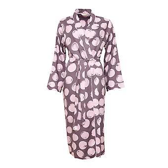 Cyberjammies Gabriella 4740 Women's Aubergine Spotted Cotton Robe