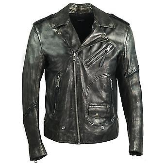 Diesel L-Ingran Biker Leather Jacket