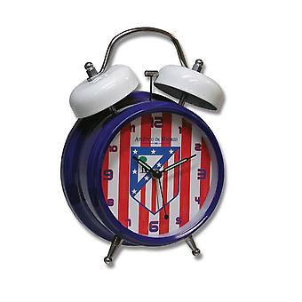 Atletico De Madrid FC Official Twin Bell Football Crest Alarm Clock