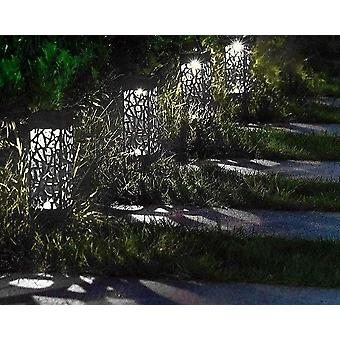 Vodotesné záhradné solárne led svetlo, dutá trávniková lampa
