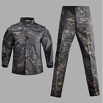 Traje táctico de camuflaje uniforme militar, camisa de combate de las fuerzas especiales del ejército