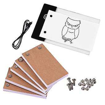 Drawing Paper Flip Book Kit With Light Pad, Led Tablet 300-sheets With Binding