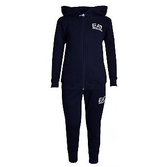 EA7 Boys EA7 Boy's Navy Blue Tracksuit With Gold Back Logo