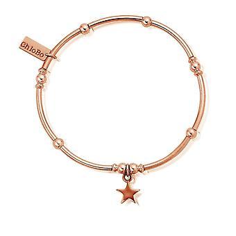 ChloBo Rose Gold Mini Noodle Ball Star Bracelet RBMNB802