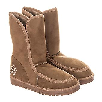 GURU Womens Winter Fluffy Ankle Boots Storlek 5 - Sand Brown