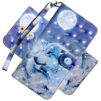 Cotdinfor case for nokia 4.2 case wallet cool animal 3d effect painted pu leather flip magnetic clas wof36521