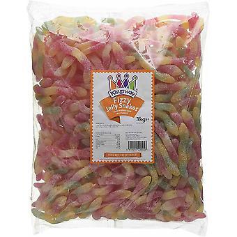 Kingsway Pick & Mix Confitería Fizzy Jelly Snakes 1 Kilo
