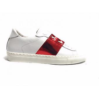Shoes Men's/Women Tony Wild Sneaker White Leather Foil Red Us17tw10