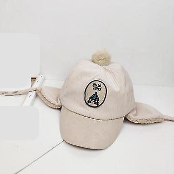 Kids Hat Winter Warm Fur Lining Hat For Cartton Caps