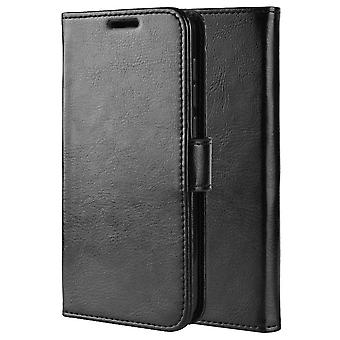Leather Folio Case for Huawei P Smart 2021/ Y7A - Black