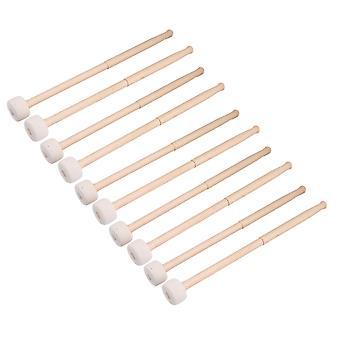Paketti 10 basso rumpu mallet huopa pää lyömäsoittimet Mallets Timpani Sticks