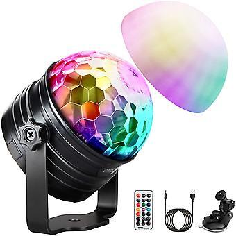LED Discokugel Kinder Discolicht Musikgesteuert Disco Lichteffekte RGB Partylicht, Zeitgesteuertes