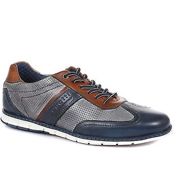 Bugatti Mens Leather Lace-Up Trainers
