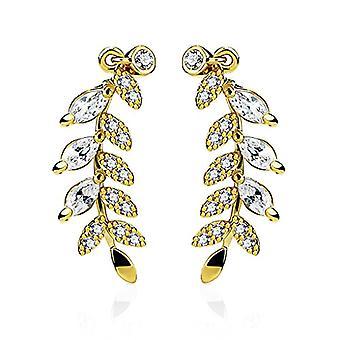 Nail earrings, clip earrings, feather-shaped earrings, cross, star, leaf, branch, Autiga Ref women's Ear Crawler. 4058433105768