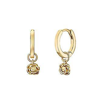 NOELANI Women's hoop earrings, sterling silver 925 rose gold plated
