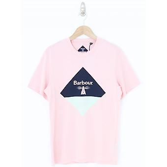 Barbour Diamond Print T-shirt - Roze