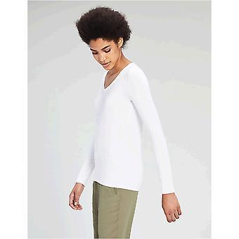 Marke - Daily Ritual Women's Jersey Long-Sleeve V-Neck T-Shirt
