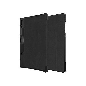 Verizon Folio Case and Tempered Glass Bundle for Galaxy Tab S6 - Black