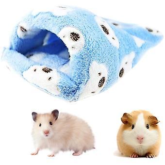 Hamsterbett für Kleintiere Hamsterhaus, Ratte Hamster Hausbett Winter Warm, Flaum Kleines
