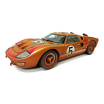 Ford GT40 Mk II Ronnie Bucknum - Dick Hutcherson (Le Mans 24Hrs 3rd Place Post-Race Dirty Version 1966) Diecast Model