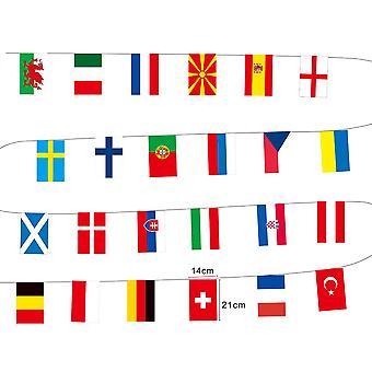 2021 Europeisk cup bunting fotball mesterskap streng flagg dekorasjon banner