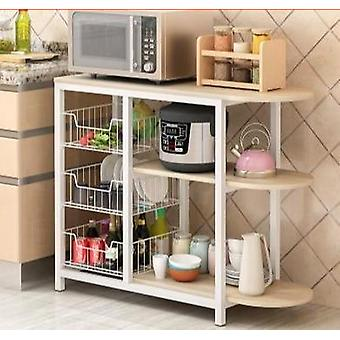 Dining Table Kitchen Storage Shelf Storage Shelf Microwave Stand Multi-layer