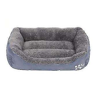 S 43 * 32cm gato mascota gris, cama de perro, nido de mascota suave y cómodo az21801