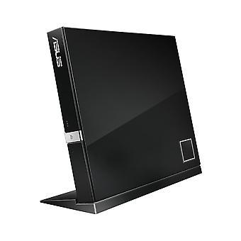 Asus SBC-06D2X-U Slim USB 2.0 BDXL CD 6x RW Ulkoinen Blu-ray-lukija Musta