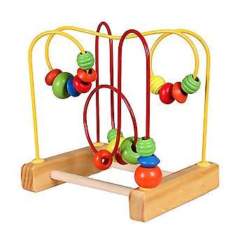 Lapset hauska taapero vauva värikäs puinen mini ympärillä telineet, lanka sokkelo