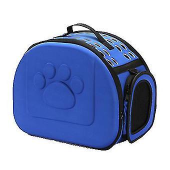 S 36 *23 * 20cm kongeblå udendørs bærbare foldbare kæledyr kat taske az13011
