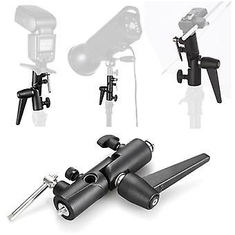 "Flash bracket h-type swivel umbrella holder adapter adjustable 1/4"" 3/8"" for flash light stand mount umbrella softbox"