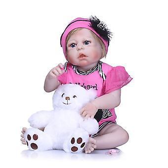 Bebes újjászületett 55cm lány test boneca baba teljes szilikon completa játékok újjászületett babák baba születésnapi ajándék játékok gyerekeknek