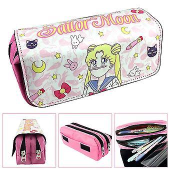Sailor Moon Niños Doble Lápiz Caja De Gran Capacidad (Color-2)
