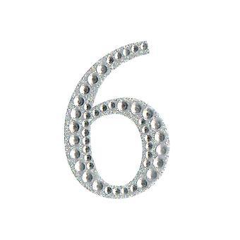 5cm Klar Selvklebende Diamante Tall - 6 | Diamante Edelstener Utsmykninger