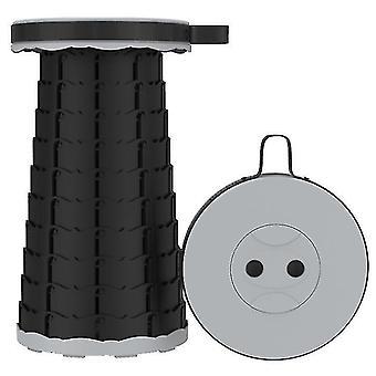 Outdoor folding telescopic stool£?portable Adjustable stool for fishing(Gray)